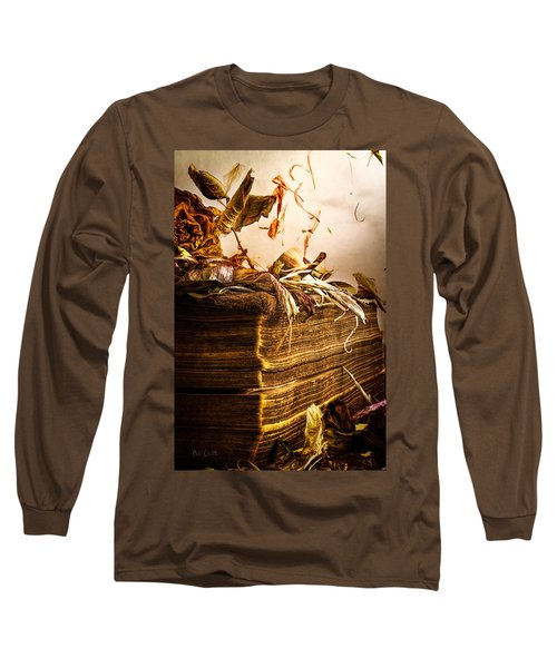 Golden Pages Falling Flowers Long Sleeve T-Shirt