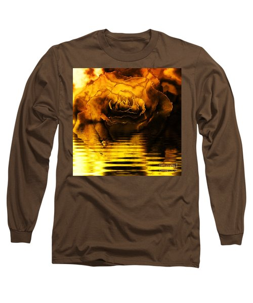 Golden Rose On The Lake Long Sleeve T-Shirt