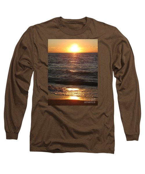 Long Sleeve T-Shirt featuring the photograph Golden Sunset At Destin Beach by Christiane Schulze Art And Photography