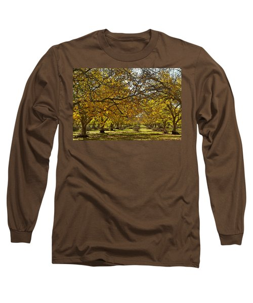 Golden Walnut Orchard Long Sleeve T-Shirt