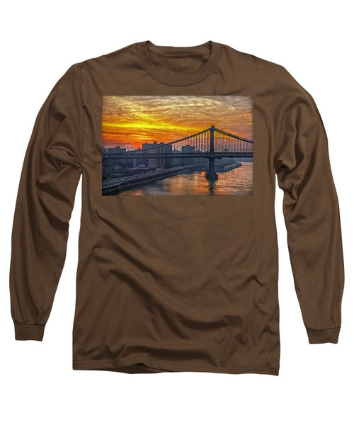 Good Morning New York Long Sleeve T-Shirt by Hanny Heim