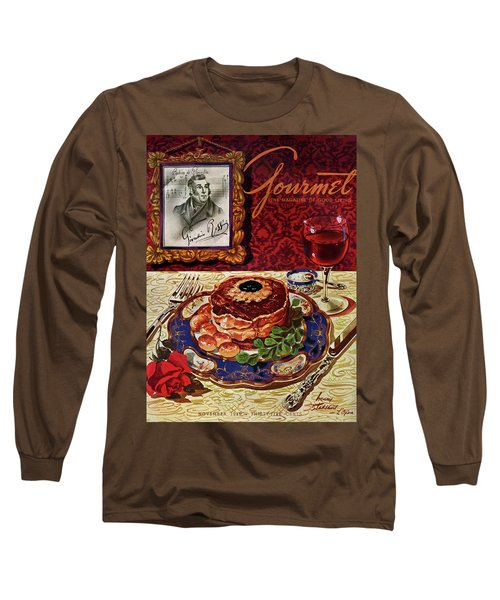 Gourmet Cover Featuring A Plate Of Tournedos Long Sleeve T-Shirt