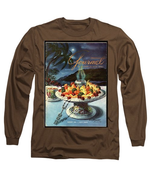 Gourmet Cover Illustration Of Fruit Dish Long Sleeve T-Shirt