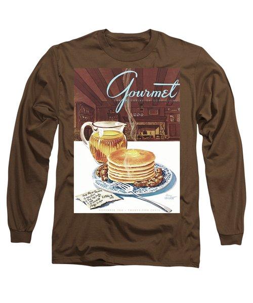 Gourmet Cover Of Pancakes Long Sleeve T-Shirt