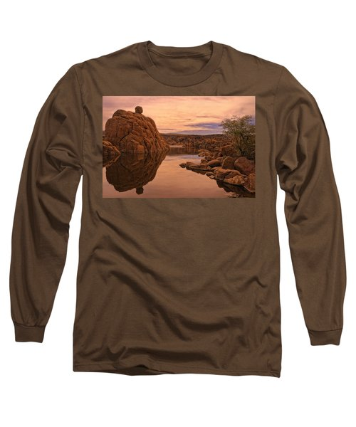 Long Sleeve T-Shirt featuring the photograph Granite Dells by Priscilla Burgers