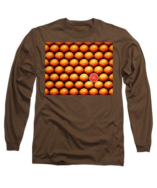 Grapefruit Slice Between Group Long Sleeve T-Shirt by Johan Swanepoel