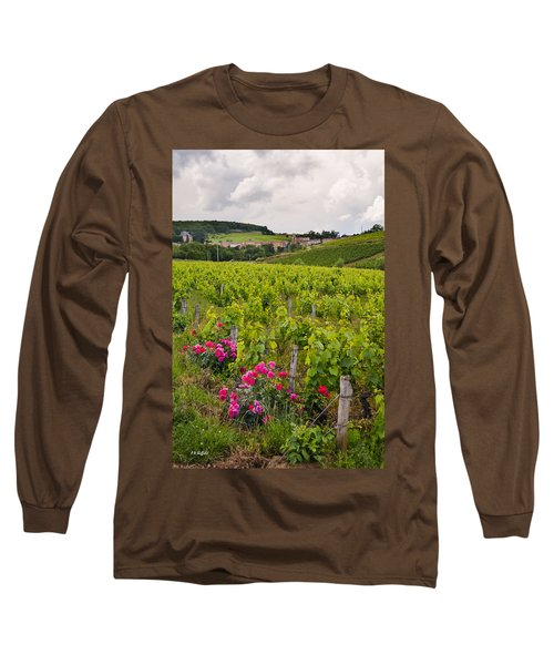 Long Sleeve T-Shirt featuring the photograph Grapes And Roses by Allen Sheffield