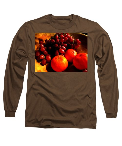 Grapes And Tangerines Long Sleeve T-Shirt by Greg Allore