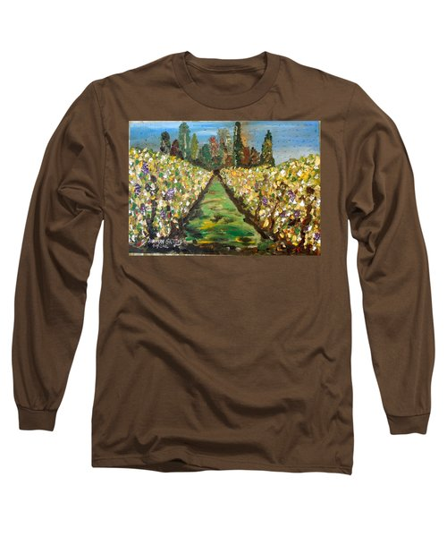 Grapes Of Tuscany Long Sleeve T-Shirt