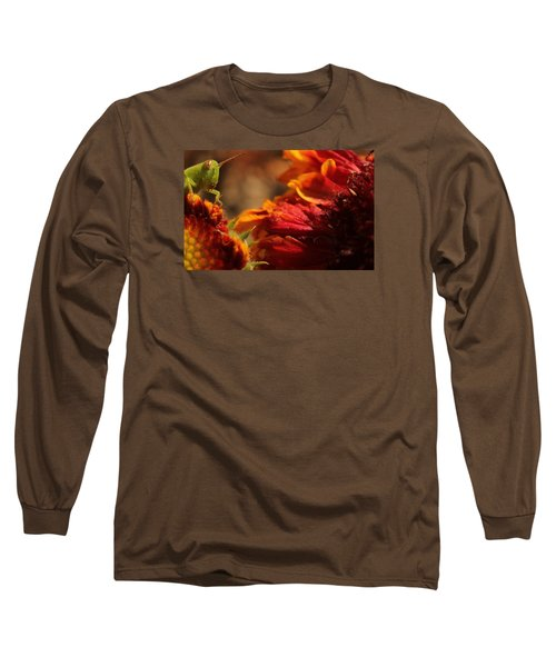 Grasshopper In The Marigolds Long Sleeve T-Shirt