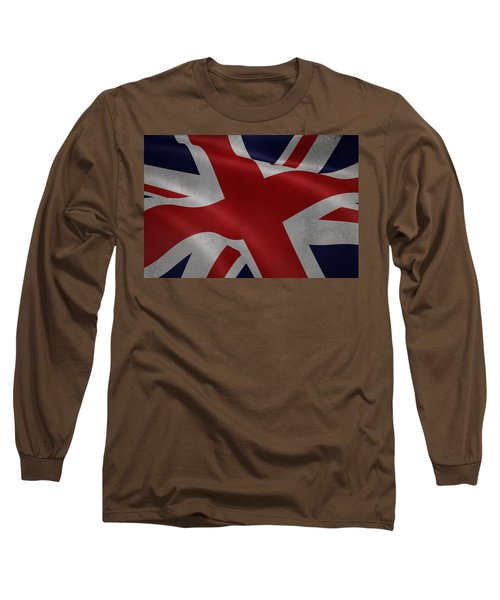 Great Britains Flag Waving On Canvas Long Sleeve T-Shirt