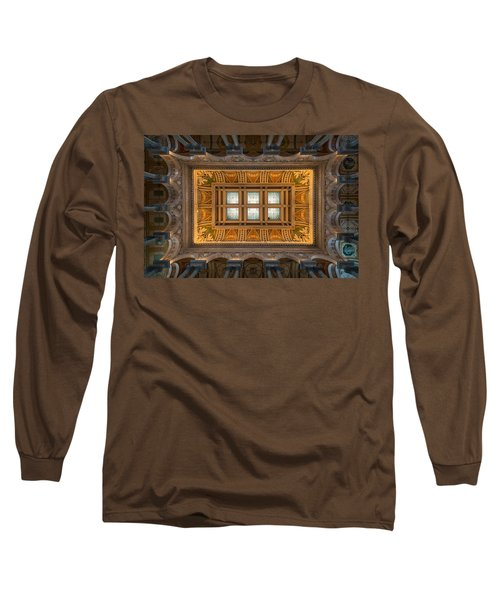 Great Hall Ceiling Library Of Congress Long Sleeve T-Shirt