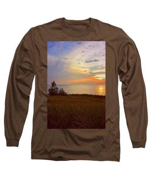 Great Lake Great Sunset Long Sleeve T-Shirt