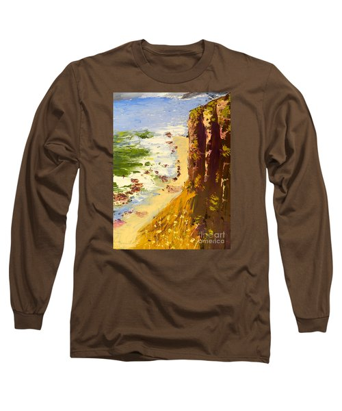 Long Sleeve T-Shirt featuring the painting Great Ocean Road by Pamela  Meredith