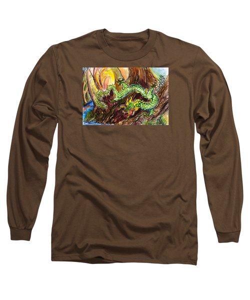 Green Earth Dragon Long Sleeve T-Shirt
