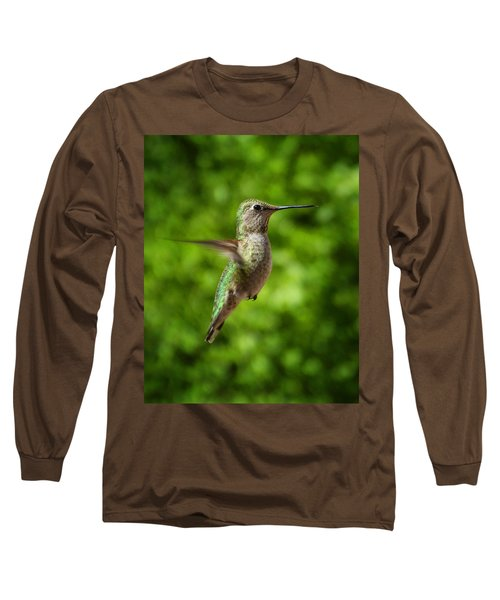 Green Hummingbird Long Sleeve T-Shirt