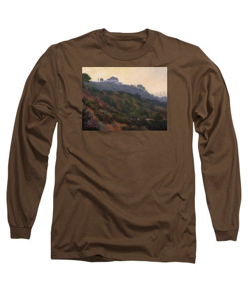 Griffith Park Observatory- Late Morning Long Sleeve T-Shirt by Jane Thorpe