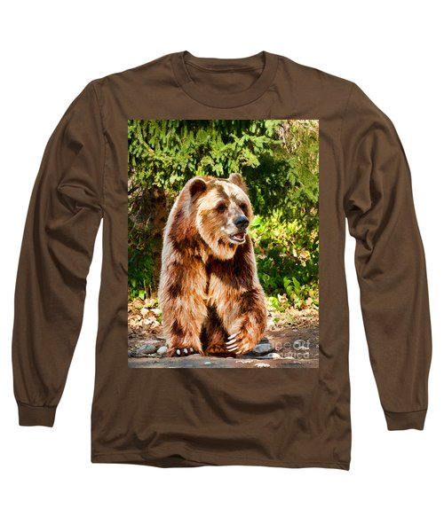 Grizzly Bear - Painterly Long Sleeve T-Shirt