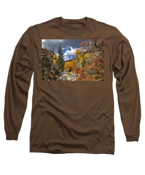 Grizzly Creek Cottonwoods Long Sleeve T-Shirt by Jeremy Rhoades