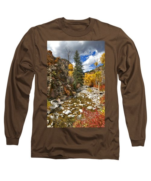 Long Sleeve T-Shirt featuring the photograph Grizzly Creek Cottonwoods Vertical by Jeremy Rhoades