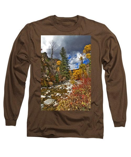 Long Sleeve T-Shirt featuring the photograph Grizzly Creek Vertical by Jeremy Rhoades