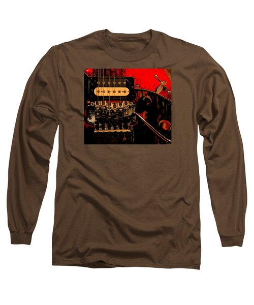 Guitar Pickup Long Sleeve T-Shirt by John Stuart Webbstock