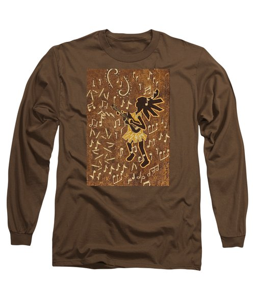 Guitar Player Long Sleeve T-Shirt by Katherine Young-Beck