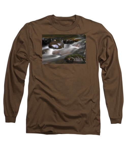 Long Sleeve T-Shirt featuring the photograph Gurgling Brook by Andy Crawford