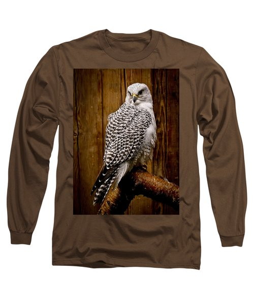Gyrfalcon Perched Long Sleeve T-Shirt