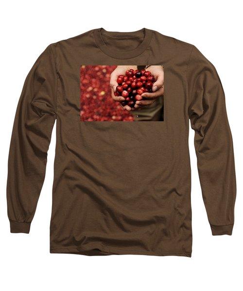 Handful Of Fresh Cranberries Long Sleeve T-Shirt