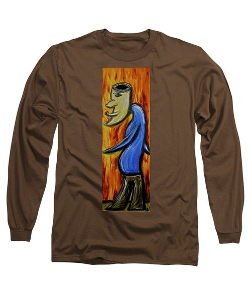 Long Sleeve T-Shirt featuring the painting Happiness 12-005 by Mario Perron