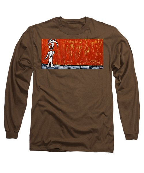 Long Sleeve T-Shirt featuring the painting Happiness 12-007 by Mario Perron