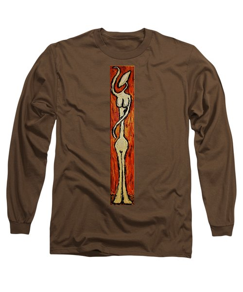 Long Sleeve T-Shirt featuring the painting Happiness 12-011 by Mario Perron