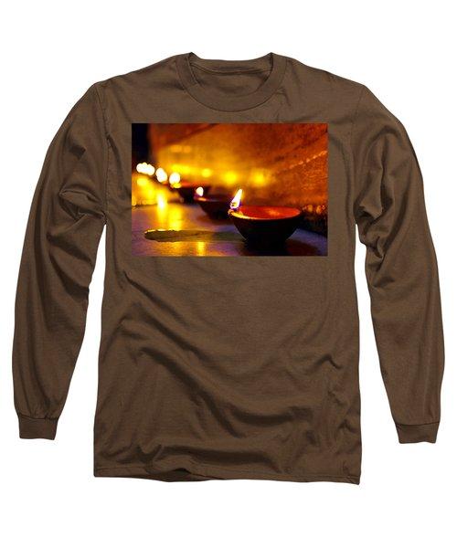 Happy Diwali Long Sleeve T-Shirt by Prakash Ghai