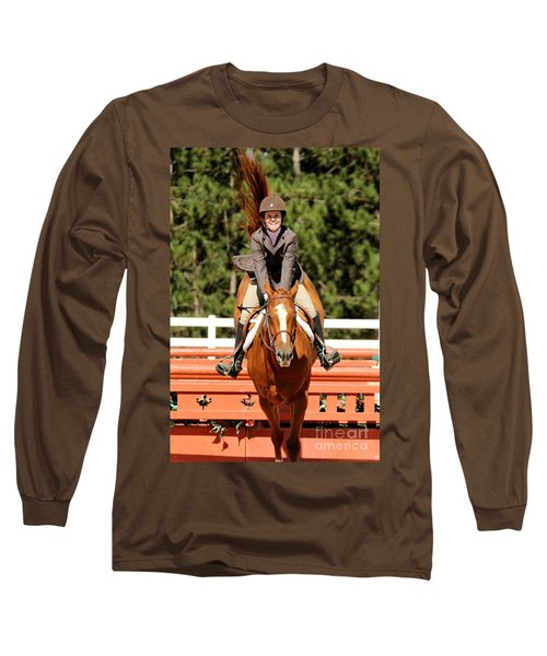 Happy Hunter Horse Long Sleeve T-Shirt
