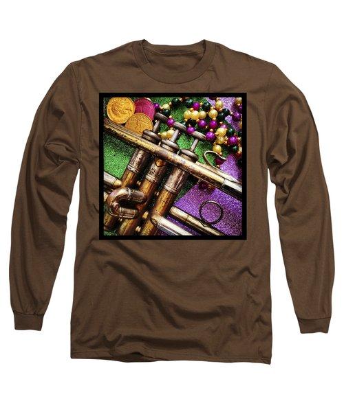 Happy Mardi Gras Long Sleeve T-Shirt by KG Thienemann