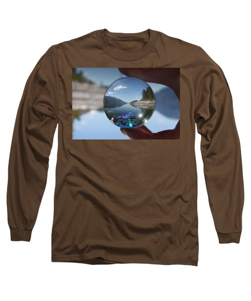 Happy Place Long Sleeve T-Shirt by Cathie Douglas