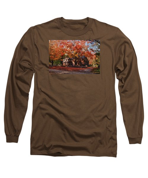 Long Sleeve T-Shirt featuring the photograph Hartwell Tavern Under Canopy Of Fall Foliage by Jeff Folger