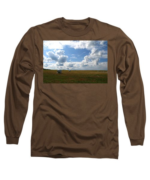 Harvest Blue  Long Sleeve T-Shirt by Neal Eslinger