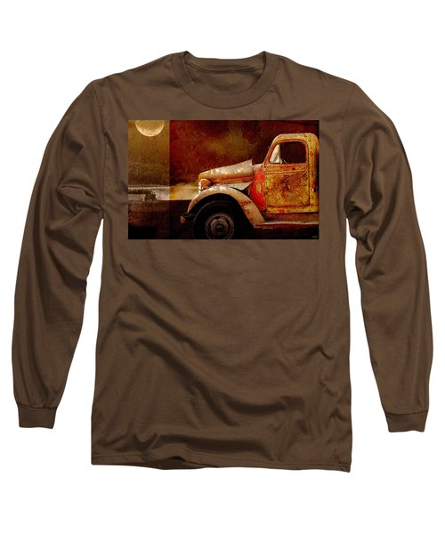 Long Sleeve T-Shirt featuring the photograph Harvest Moon by Holly Kempe