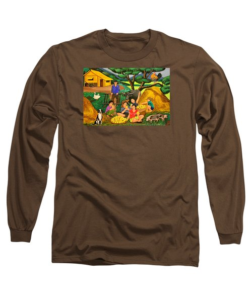 Harvest Time Long Sleeve T-Shirt by Lorna Maza
