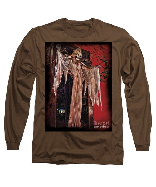 Hauntings Long Sleeve T-Shirt by Joan  Minchak