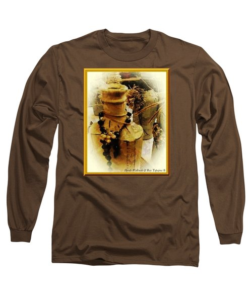 Long Sleeve T-Shirt featuring the mixed media He Turned Water Into Wine by Ray Tapajna