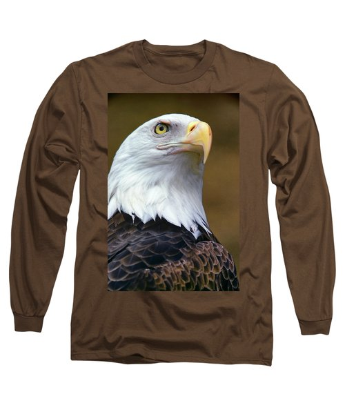 Head Of American Bald Eagle Haliaeetus Long Sleeve T-Shirt