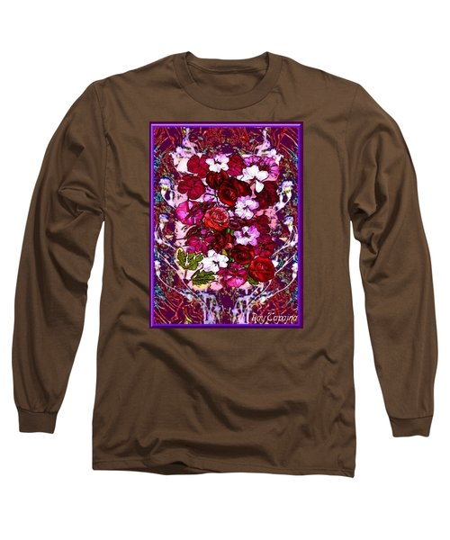 Long Sleeve T-Shirt featuring the mixed media Healing Flowers For You by Ray Tapajna