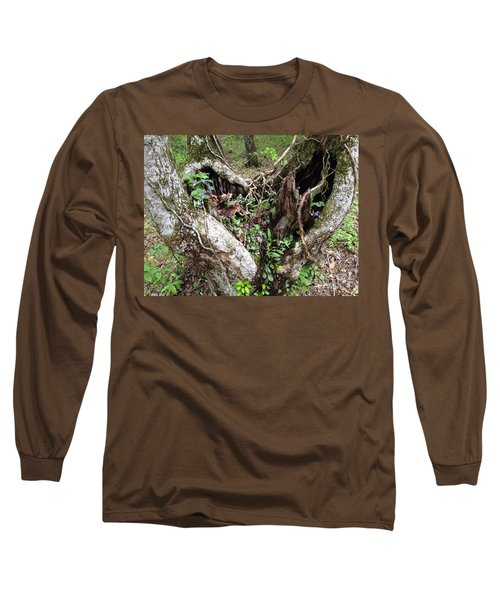Long Sleeve T-Shirt featuring the photograph Heart-shaped Tree by Jan Dappen