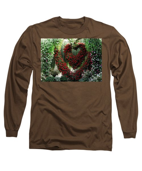 Long Sleeve T-Shirt featuring the photograph Hearts And Flowers by Jennifer Wheatley Wolf