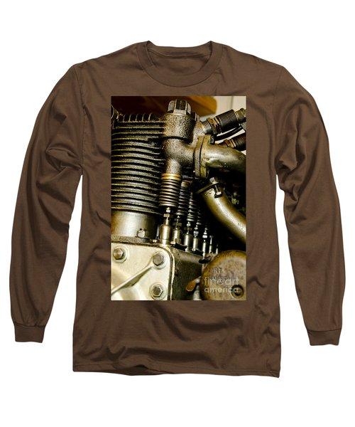 Heath-henderson Motorcycle Engine Long Sleeve T-Shirt by Wilma  Birdwell