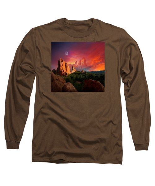 Heavenly Garden Long Sleeve T-Shirt by John Hoffman