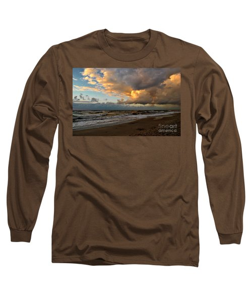 Long Sleeve T-Shirt featuring the photograph Heavy Clouds Over Baltic Sea by Maja Sokolowska